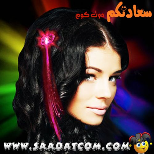 LED Flashing Hair Braids